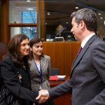De la stanga la dreapta Raluca Alexandra PRUNA, Ministrul justitiei Romania; Andrea ORLANDO, ministrul justitiei Italia Sursa foto: EC Audiovisual Services